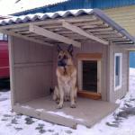 Как утеплить собачью будку на зиму