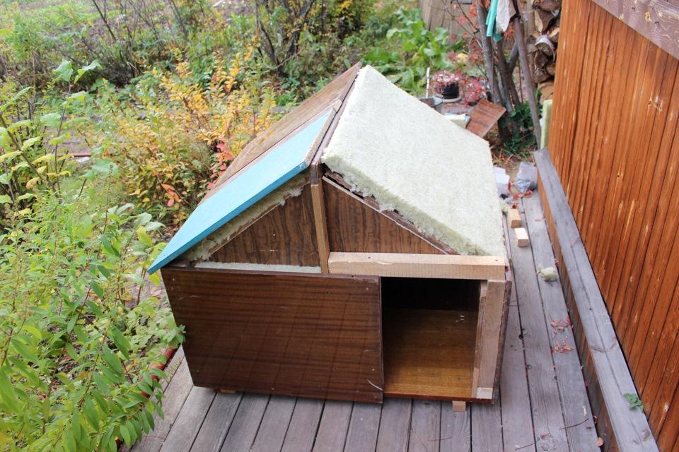 Утепляем крышу будки