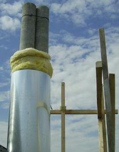 Как утеплить асбестовую дымоходную трубу