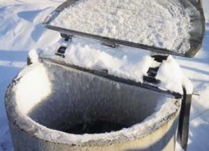 железобетонные колодцы замерзают зимой