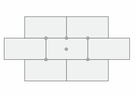 Схема крепления дюбелей на листах пеноплекса
