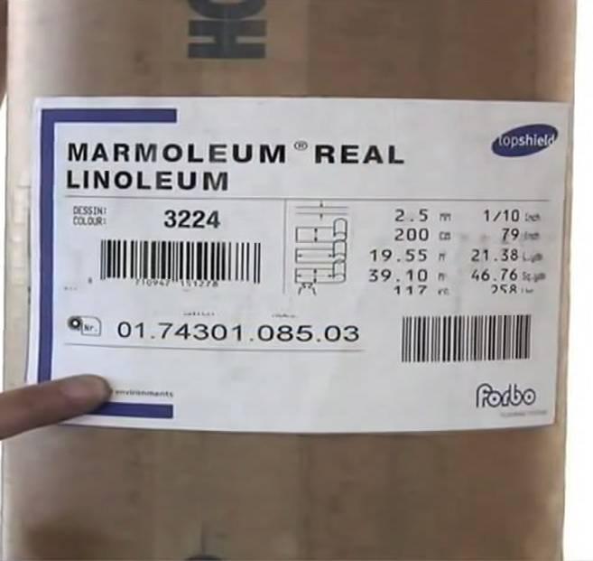 Натуральный линолеум на джутовой основе