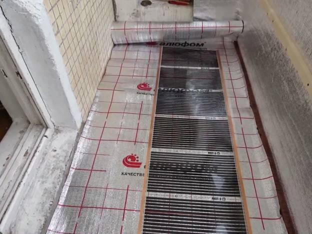 Ленточный электрический пол на алюминиевой подложке – отражателе тепловых лучей